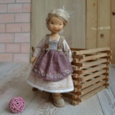 Waldorf doll dress